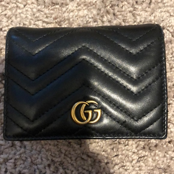 """c6bfd2b6a516 Gucci Handbags - Gucci small wallet """"GG marmont card case"""""""